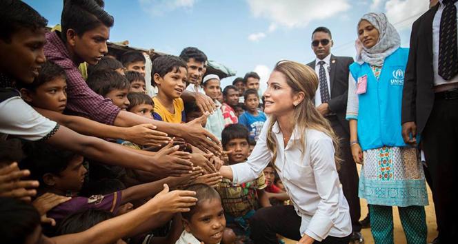 Ürdün Kraliçesi Rania, Rohingya müslümanlarını ziyaret etti