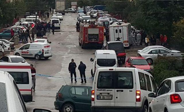 Ankara'da patlama ve yangın: 1 ölü, 4 yaralı