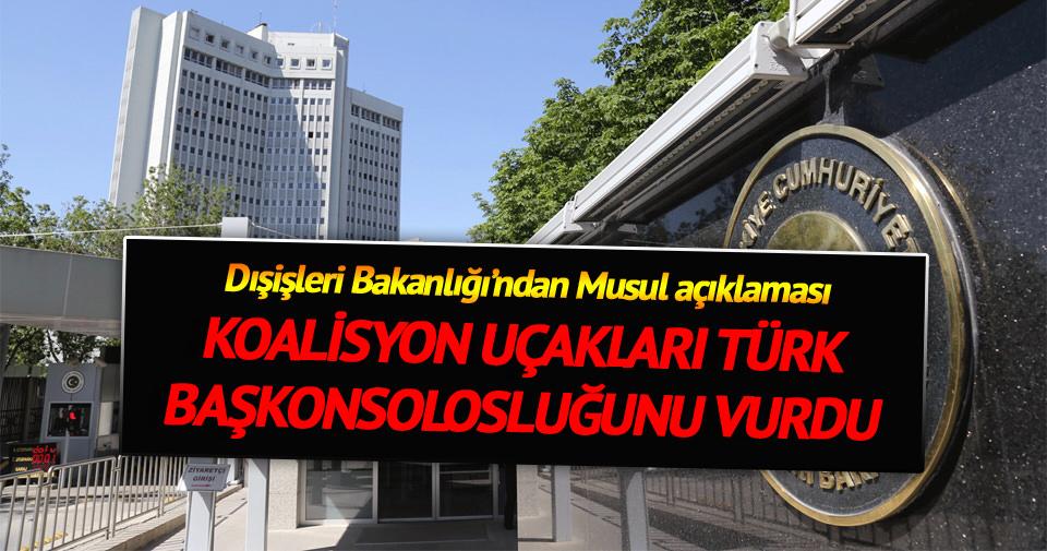 Dışişleri Bakanlığı'ndan Musul açıklaması