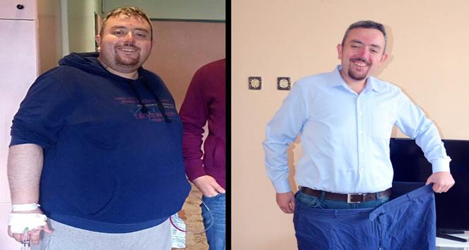 1 yılda 96 kilo verdi