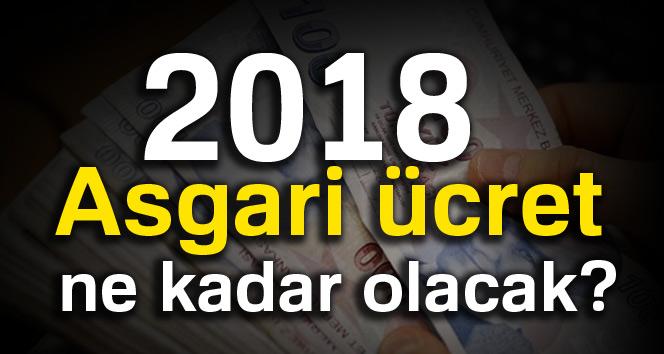 2018 Asgari ücret ne kadar olacak?