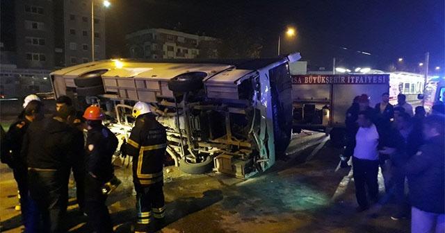 İşçilerin olduğu servis kaza yaptı:4 ölü