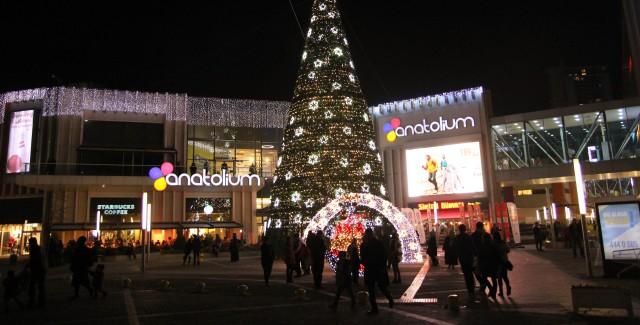 Ankara'nın en yüksek yeni yıl ağacı Anatolium'da
