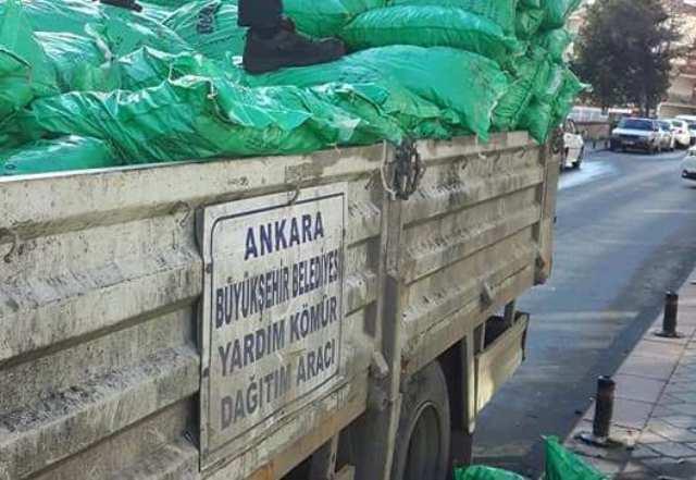 Pınarbaşı'nda kömür yardımı