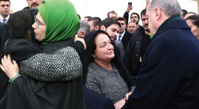 Emine Erdoğan teselli etti
