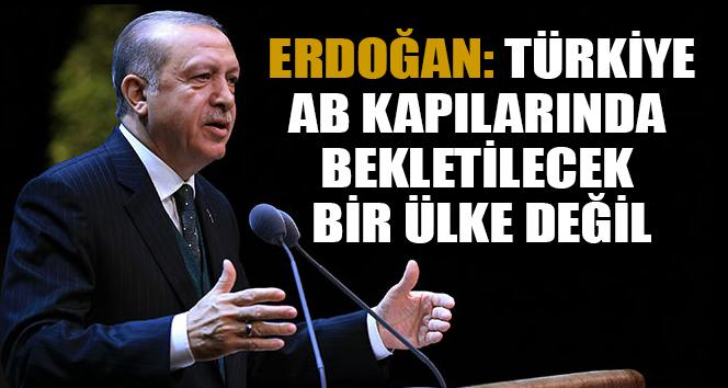 Erdoğan: Türkiye AB kapılarında bekletilecek bir ülke değil