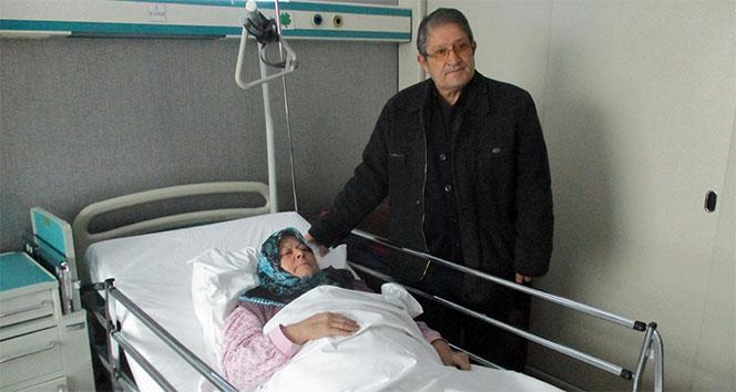 Kalbinde iğne tespit edilen kadın tedaviye alındı