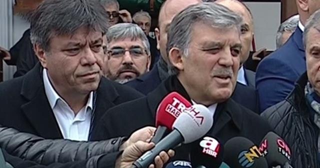 Abdullah Gül: Arkadaşlarla polemiğe girmek istemiyorum