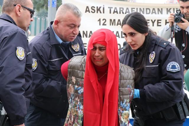 Adana'da bombalı kadın paniği