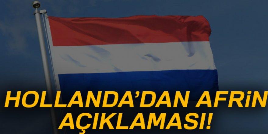 Hollanda'dan Afrin açıklaması!