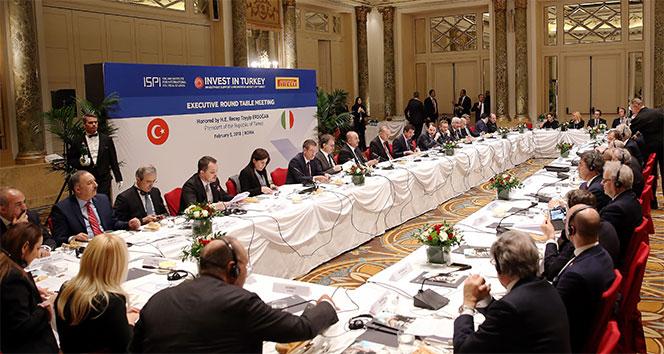 Erdoğan, İtalyan iş adamları ile bir araya geldi