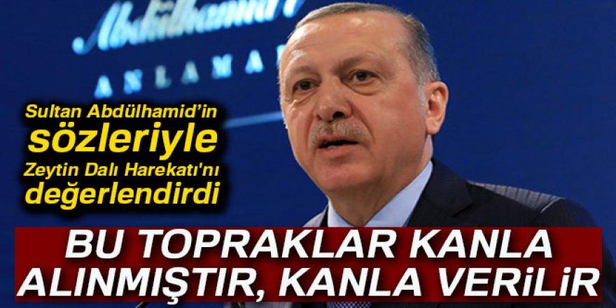 Erdoğan, Sultan Abdülhamid'in sözleriyle Zeytin Dalı Harekatı'nı değerlendirdi