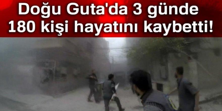 Doğu Guta'da 3 günde 180 kişi hayatını kaybetti