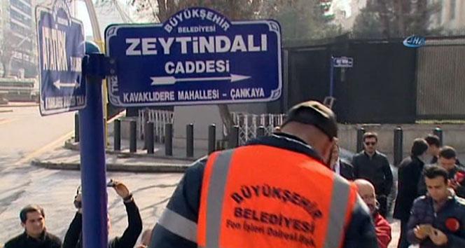 ABD Büyükelçiliği önündeki caddenin ismi 'Zeytin Dalı Caddesi' oldu