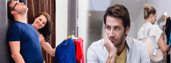 Eşiyle alışverişe çıkan erkekler sıkılınca ne yapar?