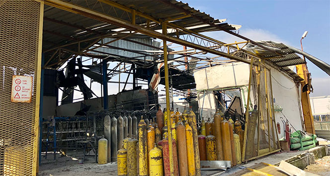 Ankara'da fabrikada büyük yangın