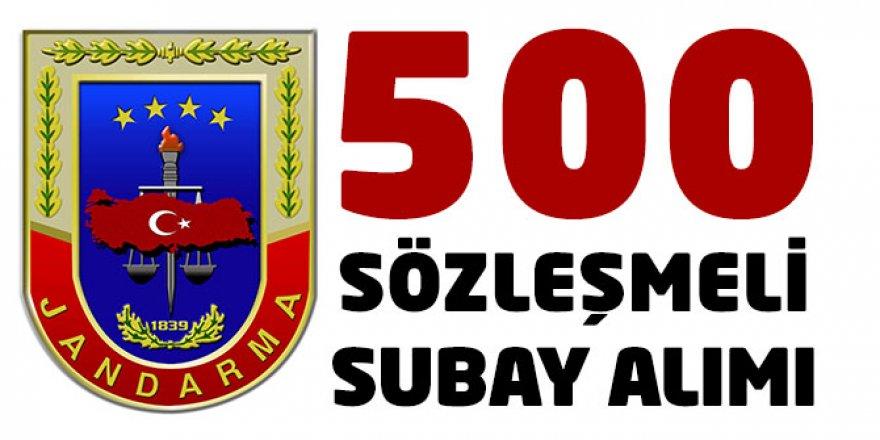 500 SÖZLEŞMELİ SUBAY ALIMI