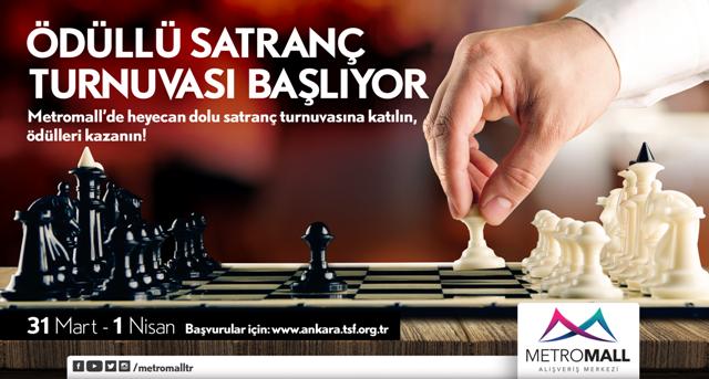 Ödüllü satranç turnuvası Metromall'de