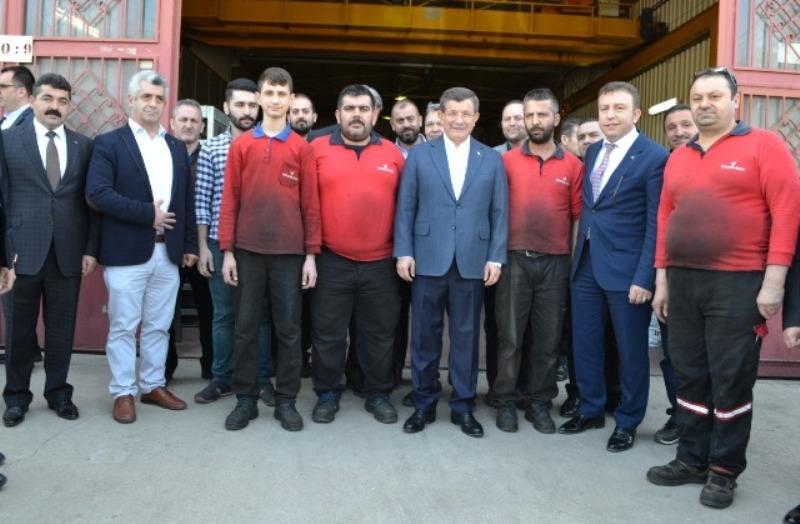 Ahmet Davutoğlu'ndan Ostim'e çıkarma