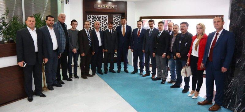 ABİDE'den Başkan Ak'a ziyaret