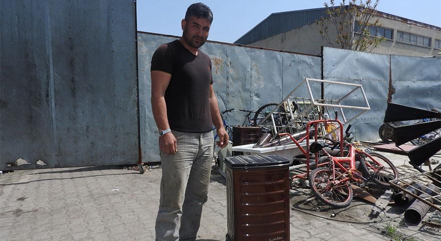Burdur'da kimsenin istemediği sobadan servet çıktı!