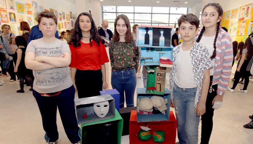 Çankayalı çocukların eseri sanat Bianel'inde