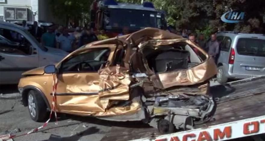 Ankara'da feci kaza: 14 aracı ezdi geçti