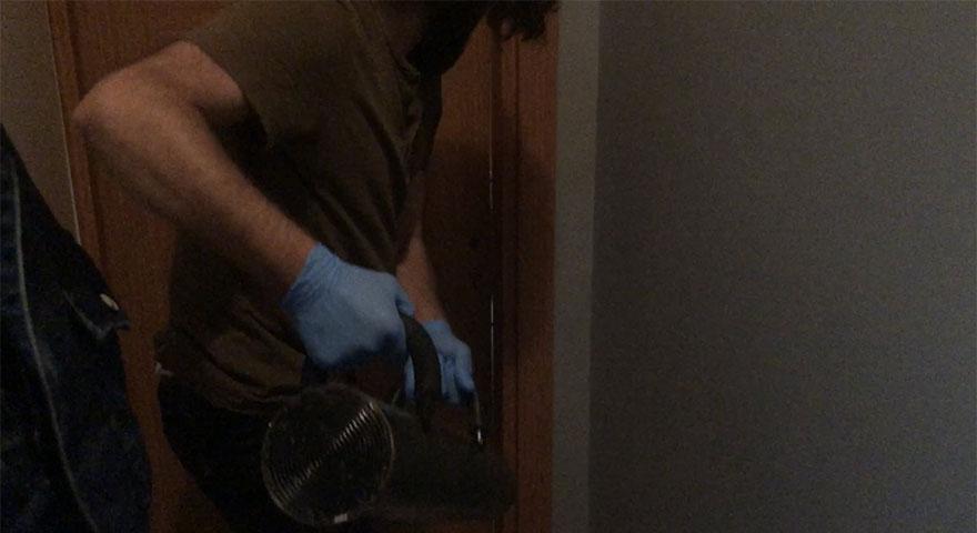 Polis günlük kiralık eve girdi! Dehşete düşüren görüntüler