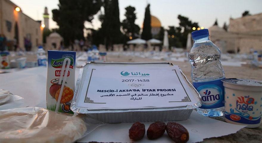 Türkiye'den Mescid-i Aksa'nın nöbetçilerine iftar