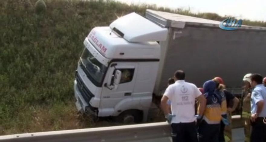 Tır sürücüsü dehşet saçtı