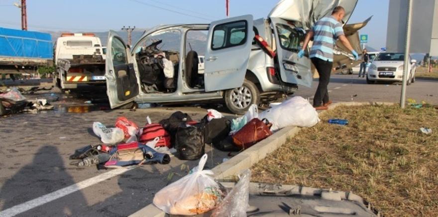 Amasya'da feci kaza