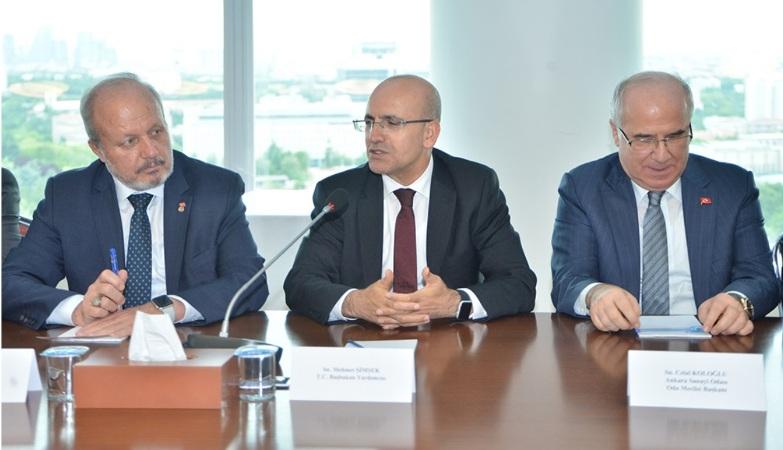 Mehmet Şimşek, ASO'da OSB başkanlarıyla bir araya geldi