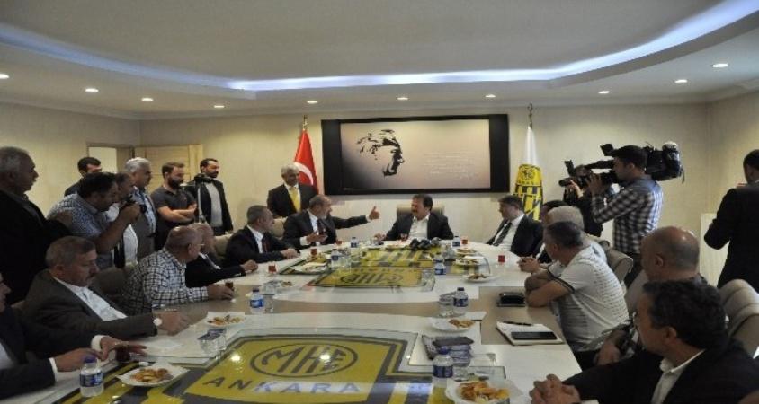 MHP heyetinden Ankaragücü'ne ziyaret