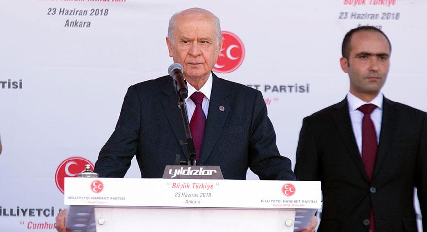 """Devlet Bahçeli """"Büyük Türkiye"""" mitinginde konuştu"""