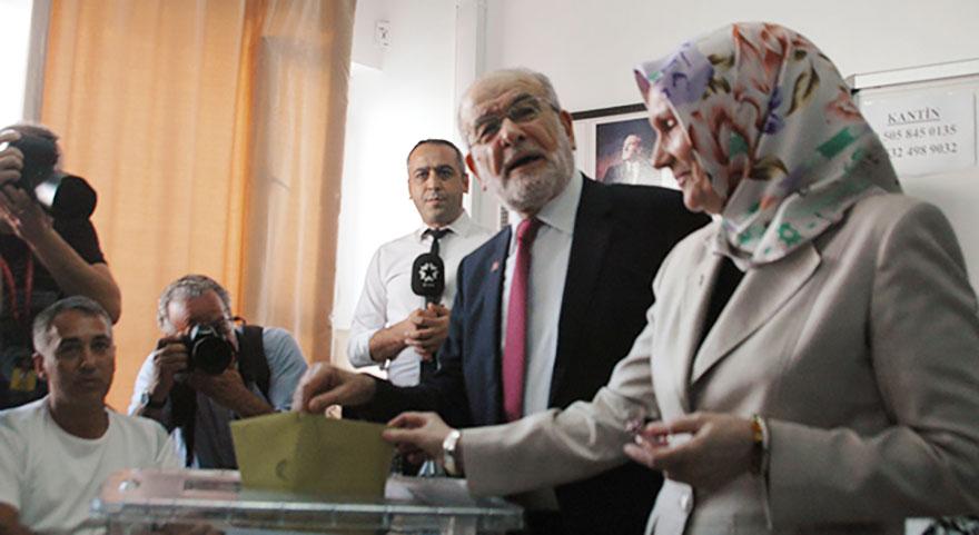 Karamollaoğlu ve eşinin oy kullandığı sandıktan kendisine 2 oy çıktı