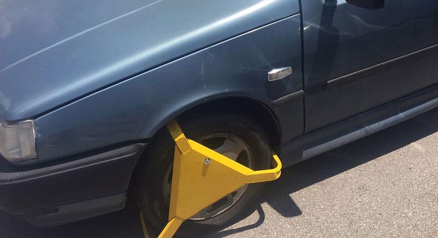Sahipsiz araçlara kilitli önlem