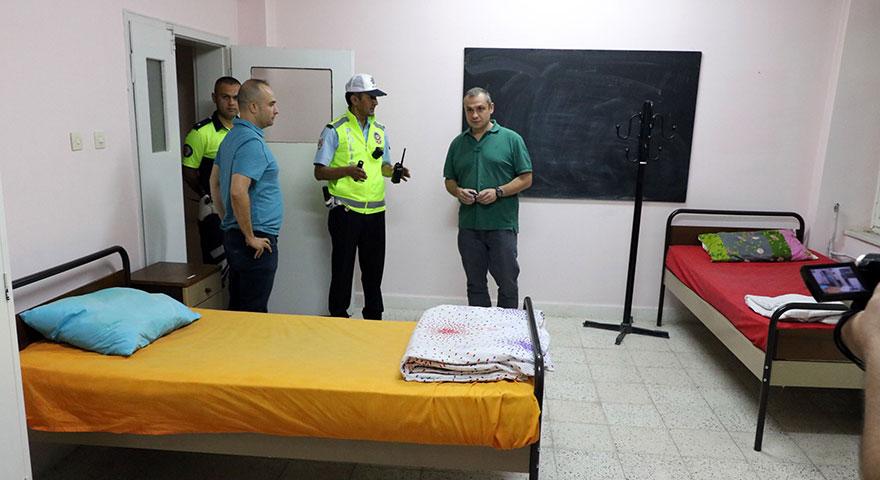 Polisten yorgun ve bitkin sürücülere VİP hizmet
