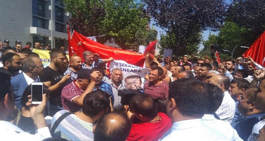 Ankara'da dolmuşçuların protestosunda gerginlik