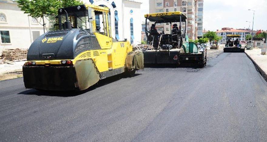 Pursaklar'da asfalt çalışması