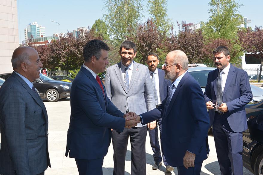 Temel Karamollaoğlu, Fevzioğlu'nu ziyaret etti