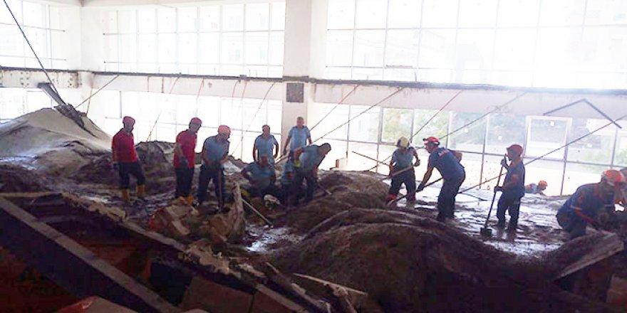 Ankara'da bir inşaatta göçük meydana geldi