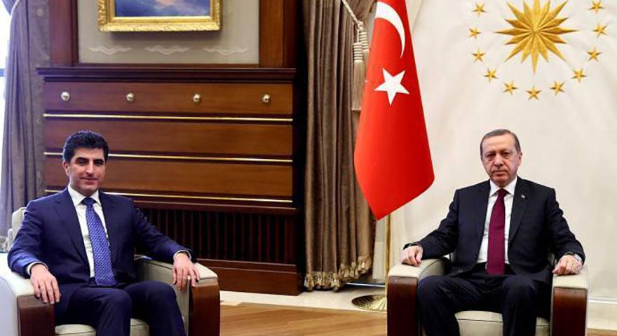 Erdoğan ve Barzani, ikili ilişkileri ele aldı