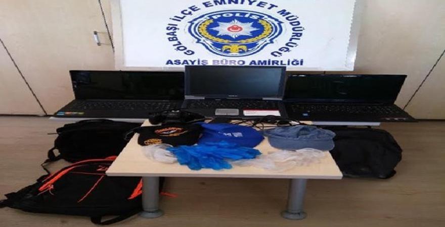 Ankara'da okul hırsızları yakalandı