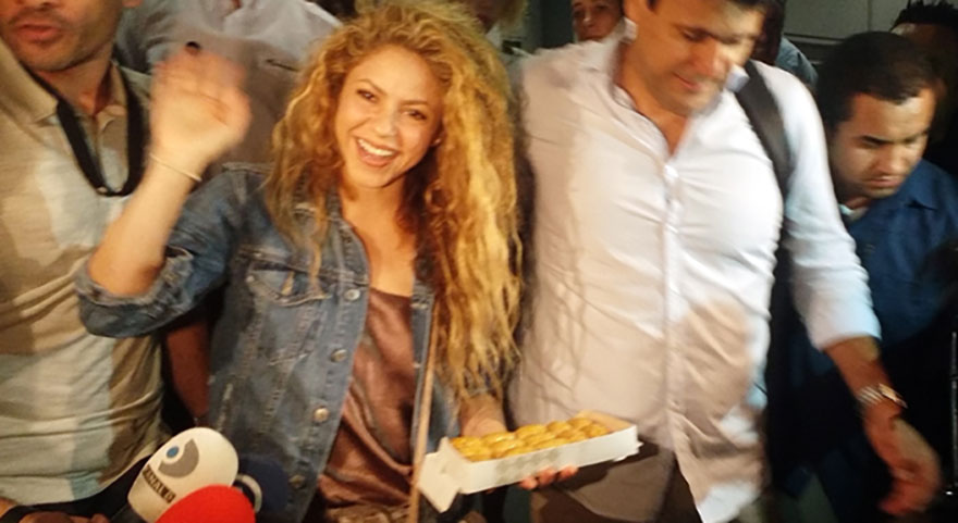 Gazetecilerden Shakira'ya sürpriz
