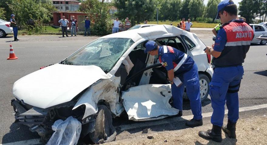 Samsun'da feci trafik kazası: 2 ölü, 2 yaralı!