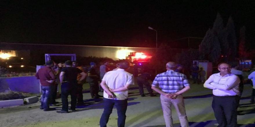 Ankara'da fabrikada büyük patlama