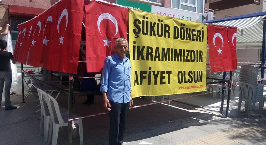 """Hırdavatçı seçimleri Erdoğan kazanınca """"şükür döneri"""" dağıttı"""