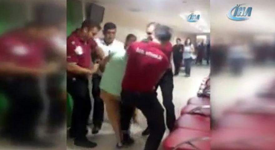 İstanbul'da kadın doktora şiddet! Şok eden görüntüler