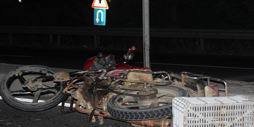 Motosikletli sürücünün acı ölümü