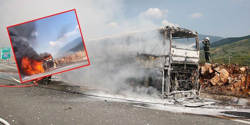 Otobüs, alev topuna döndu! Faciadan dönüldü